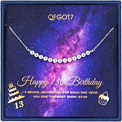 Amazon.com: 13º regalo de cumpleaños para niñas, collar de ...