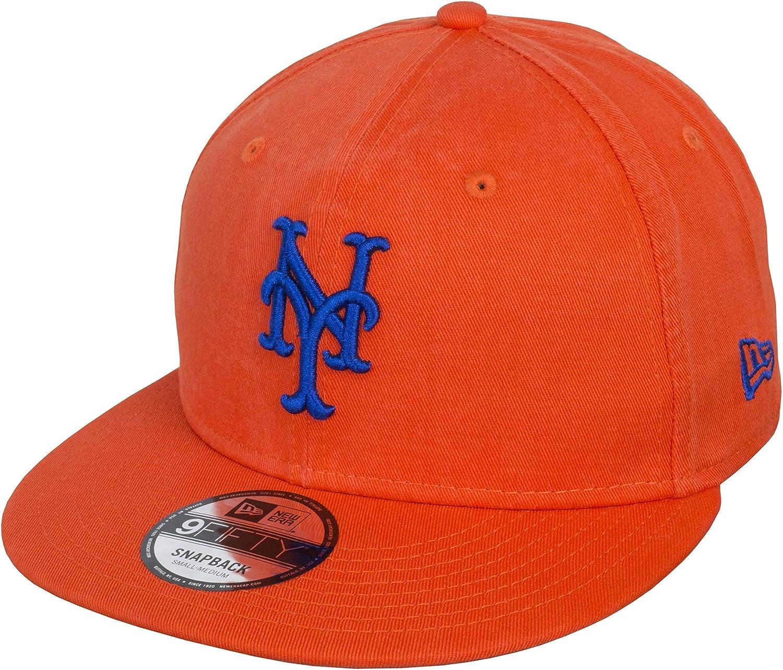 A NEW ERA Gorra 9FIFTY Washed Team York Mets Naranja - M/L: Amazon ...