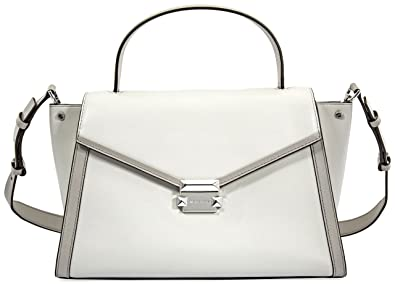 4b515f77ca23 Amazon.com  Michael Kors Whitney Large Leather Satchel- Alumin Pearl Grey   Shoes