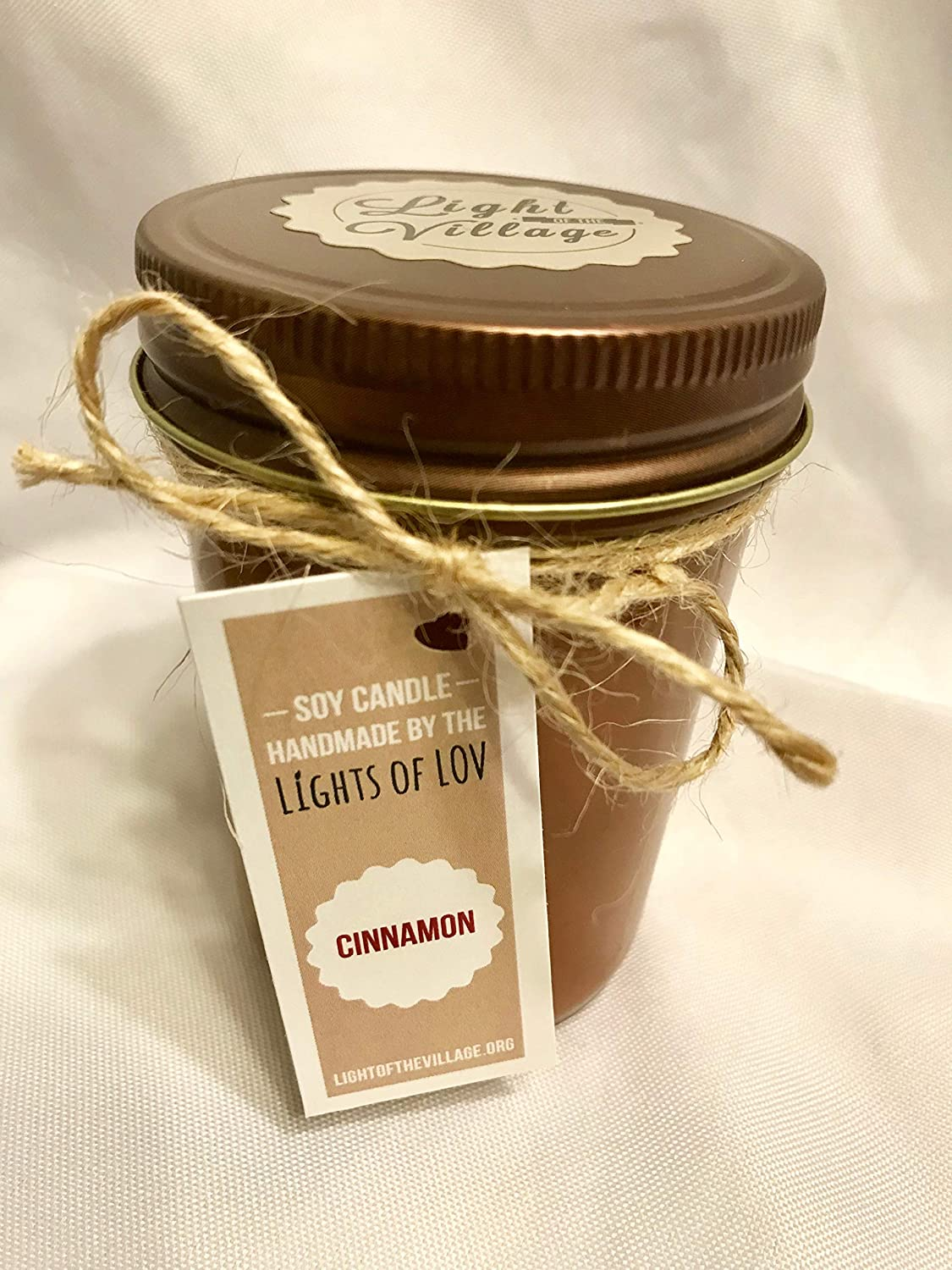 Lights of LOV Soy Candles Uncolored - White White Tea /& Berries Light of the Village