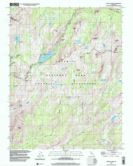 Amazoncom Tenaya Lake CA Topo Map Scale X - Historical topo maps