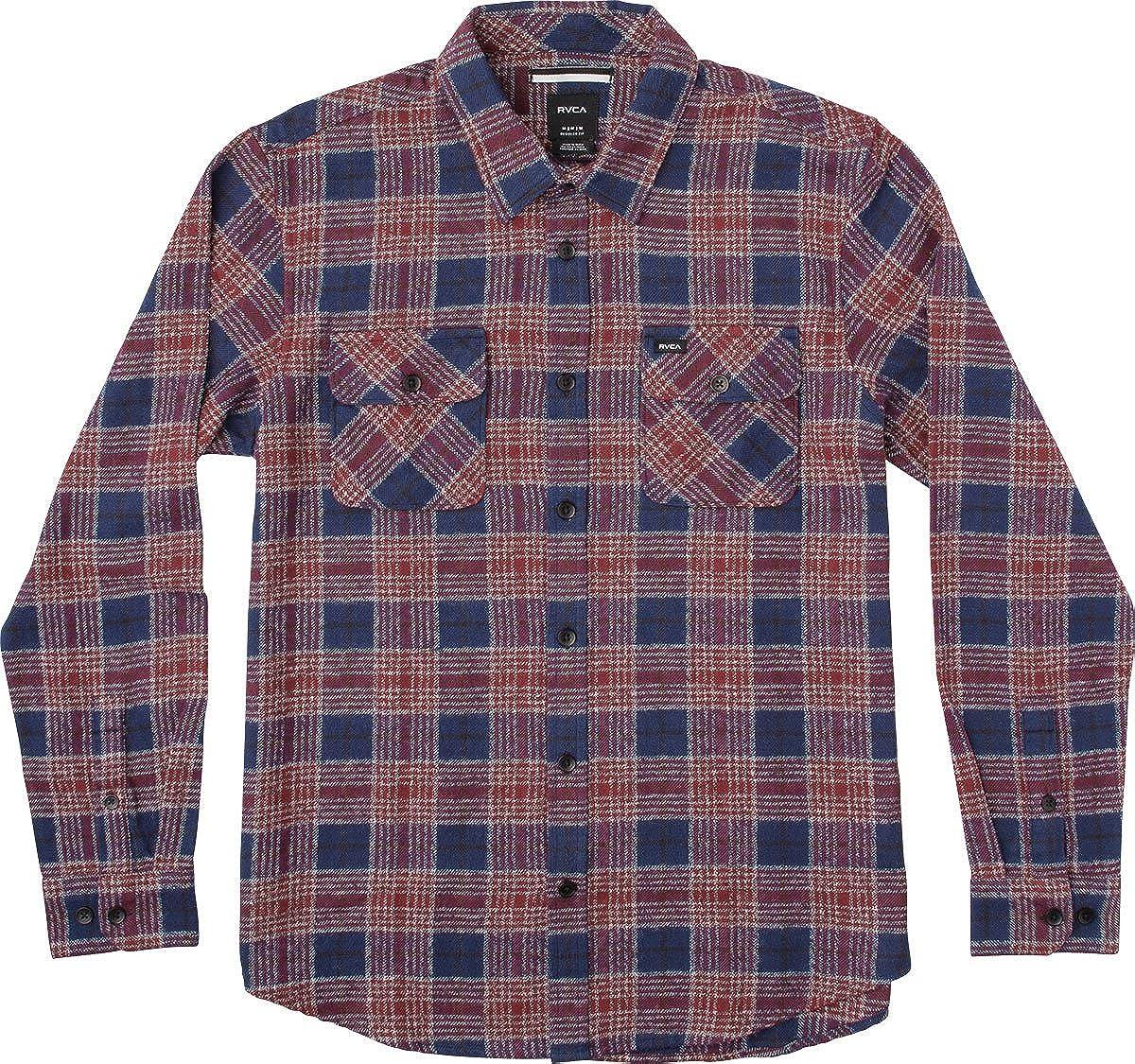 RVCA Men's Lowland Long Sleeve Woven Shirt