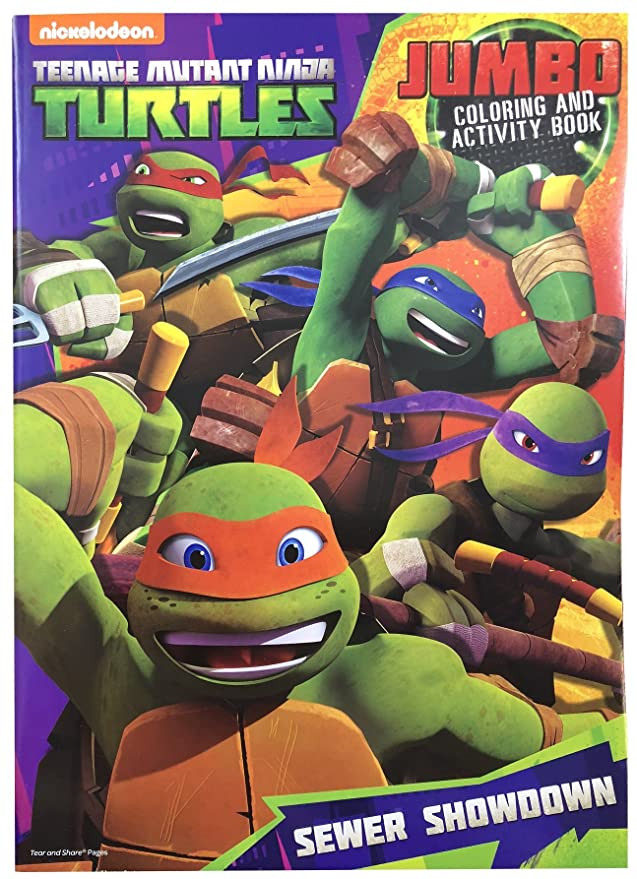 Teenage Mutant Ninja Turtles Jumbo Coloring & Activity Book ...