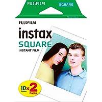 Fujifilm Film INSTAX Square WW (10X2 PK) Kit de 2 Films 10 Vues Blanc