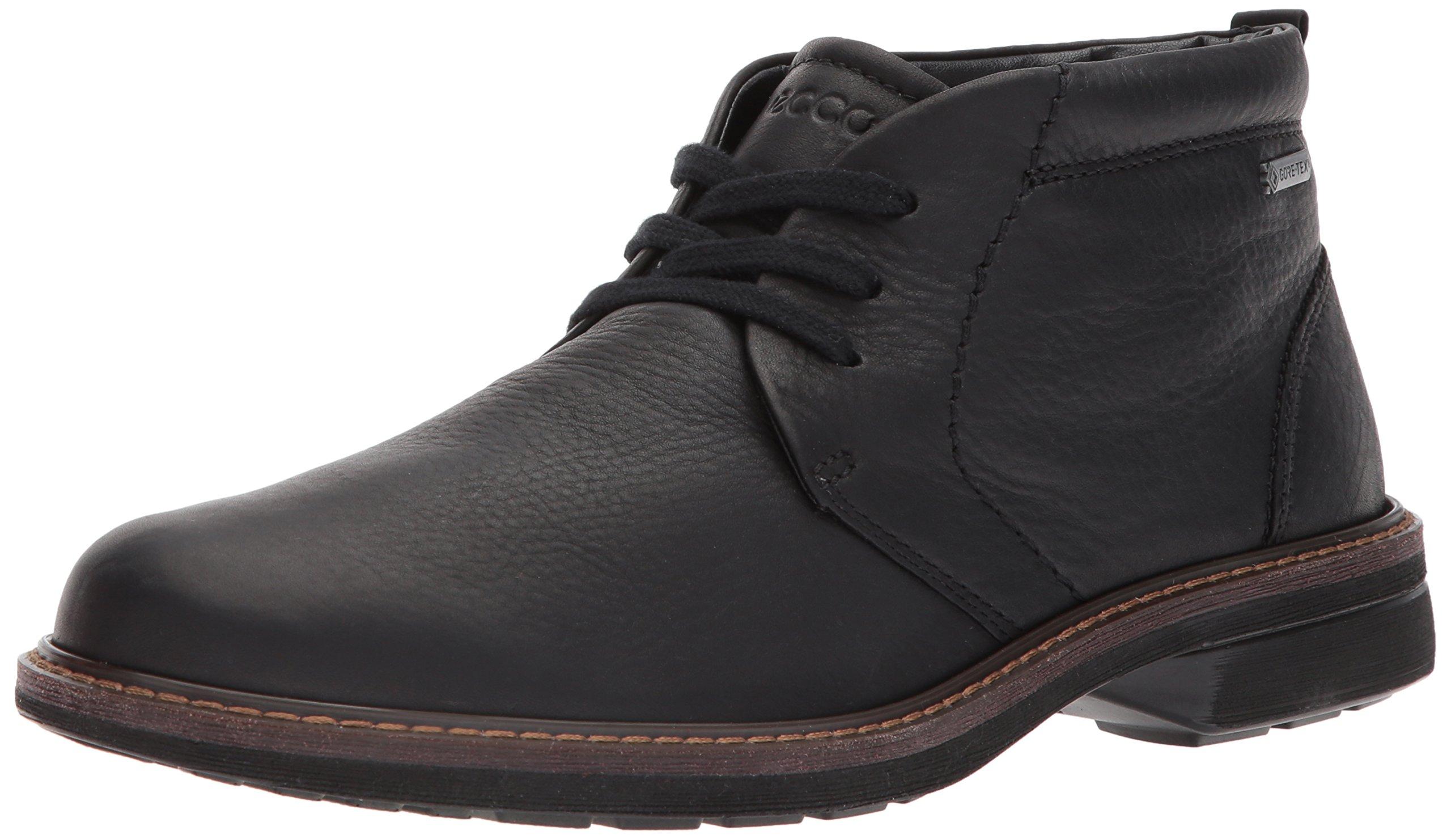 ECCO Men's Turn Gore-TEX Tie Chukka Boot, Black, 45 M EU/11-11.5 D(M) US