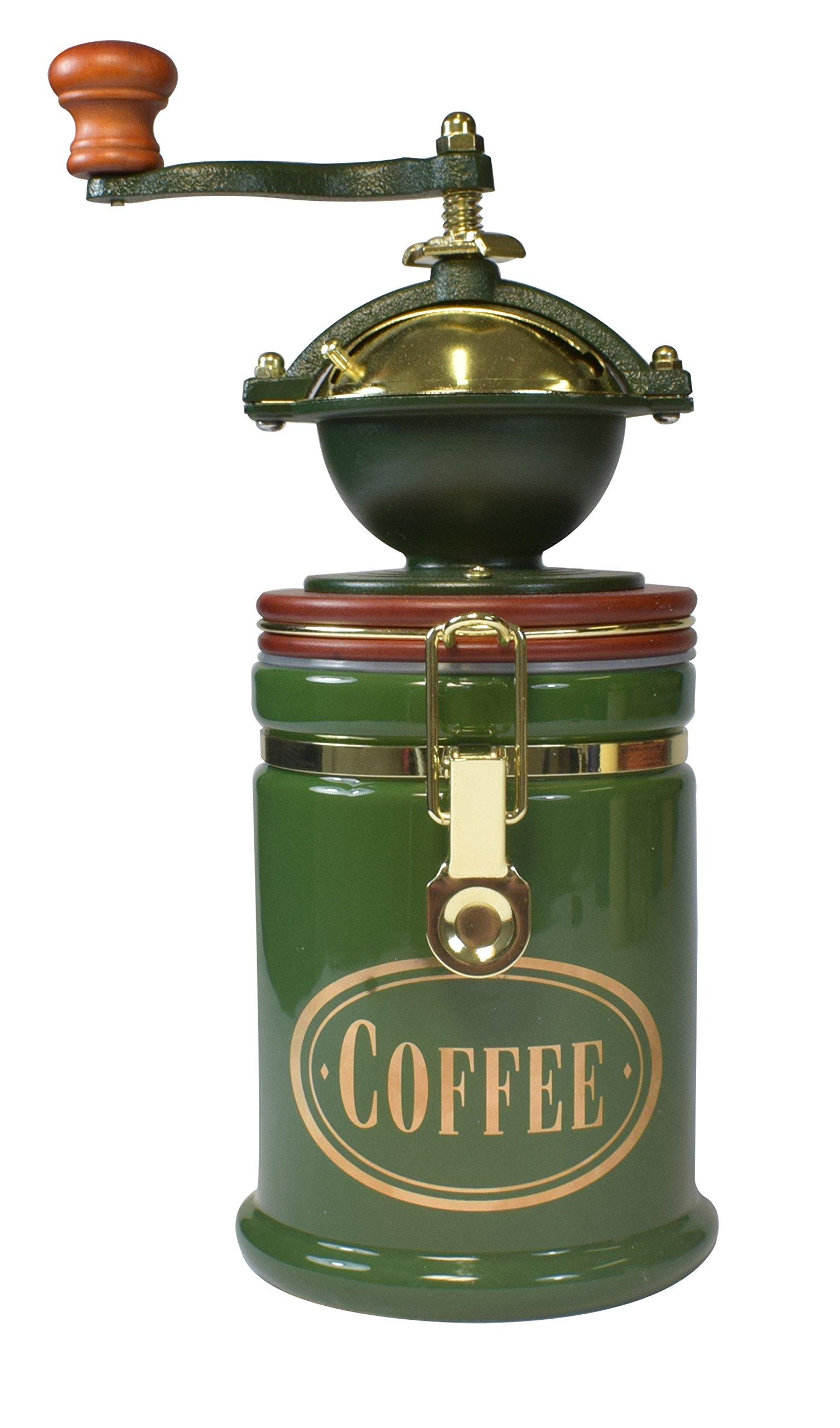 Bisetti 61122 Volluto Coffee Grinder, Green