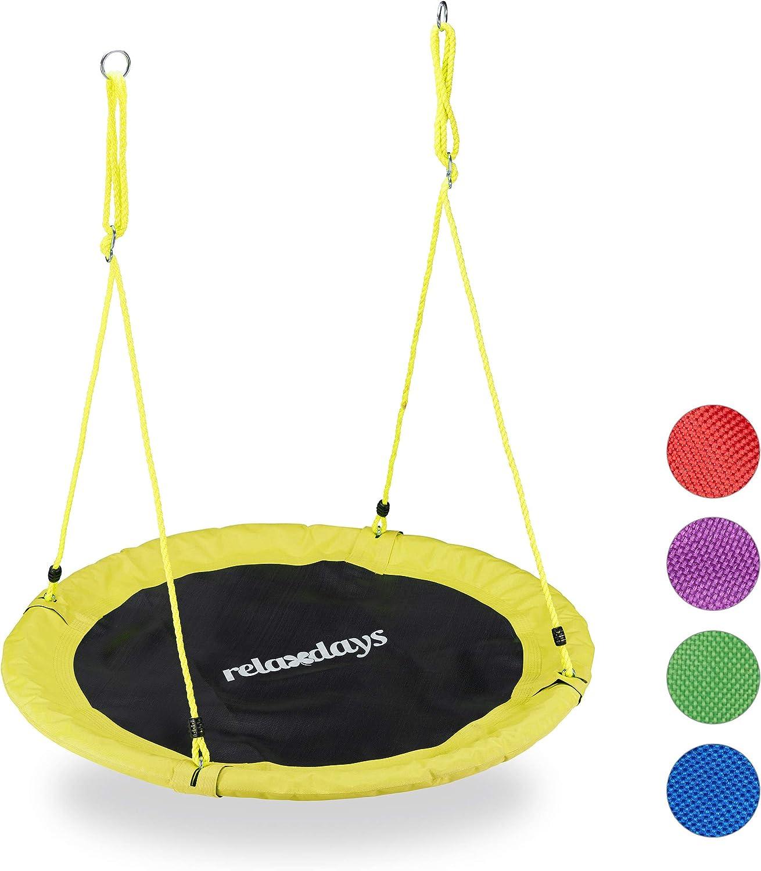 Relaxdays Balan/çoire nid doiseau Rond 110 cm /à Suspendre Enfant Adulte Jardin ext/érieur /Ø 110 cm 100 kg