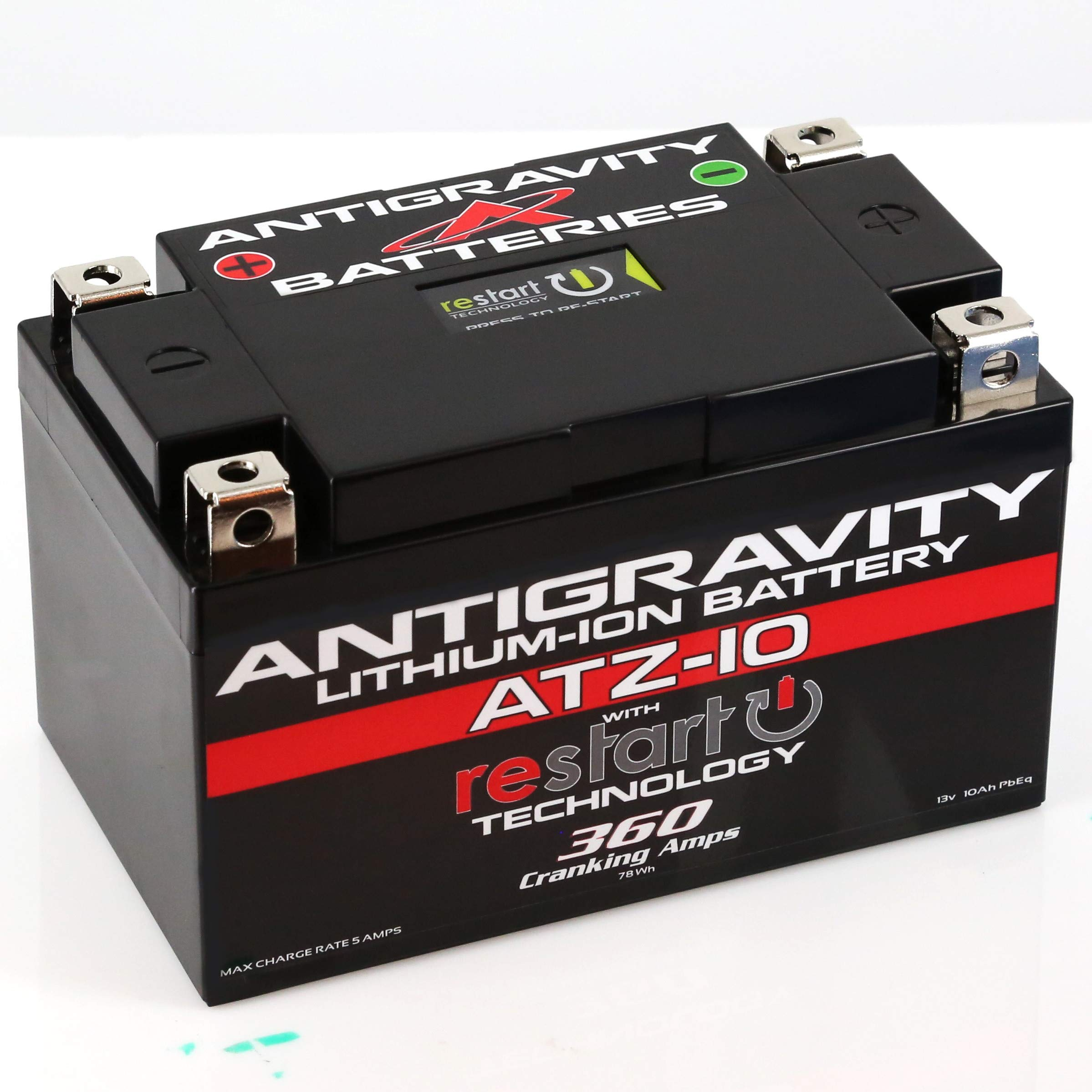 Antigravity ATZ-10-RS Lithium RE-START Battery, Replace YTZ10, YTX9, others