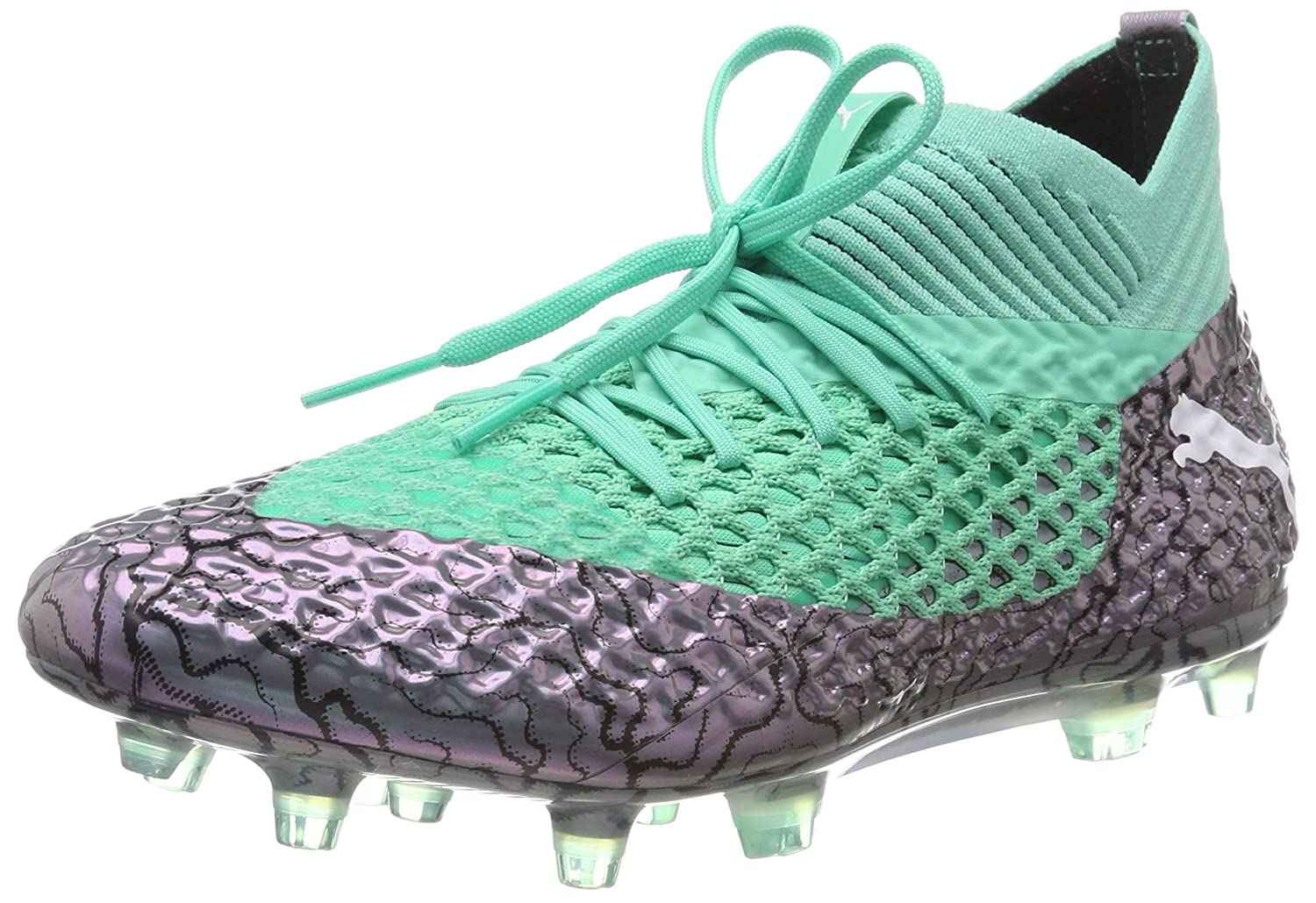 Puma Future 2.1 Netfit FG/AG, Zapatillas de Fútbol para Hombre 42.5 EU|Morado (Color Shift-biscay Green-puma White-puma Black 01)