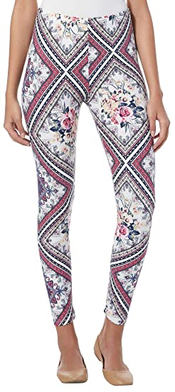 8c28b51946f2ea Eye Candy Juniors Patchwork Floral Leggings at Amazon Women's Clothing  store: