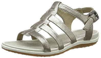 b1430bfc7d238f Geox D Vega A, Sandales Bout Ouvert Femme: Amazon.fr: Chaussures et Sacs