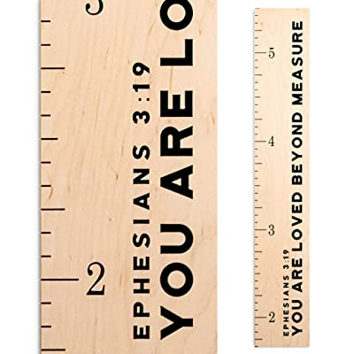Growth Chart Art | Wooden Height Chart | Scripture Growth Chart for Babies, Kids, Boys & Girls (Loved Beyond Measure): Baby