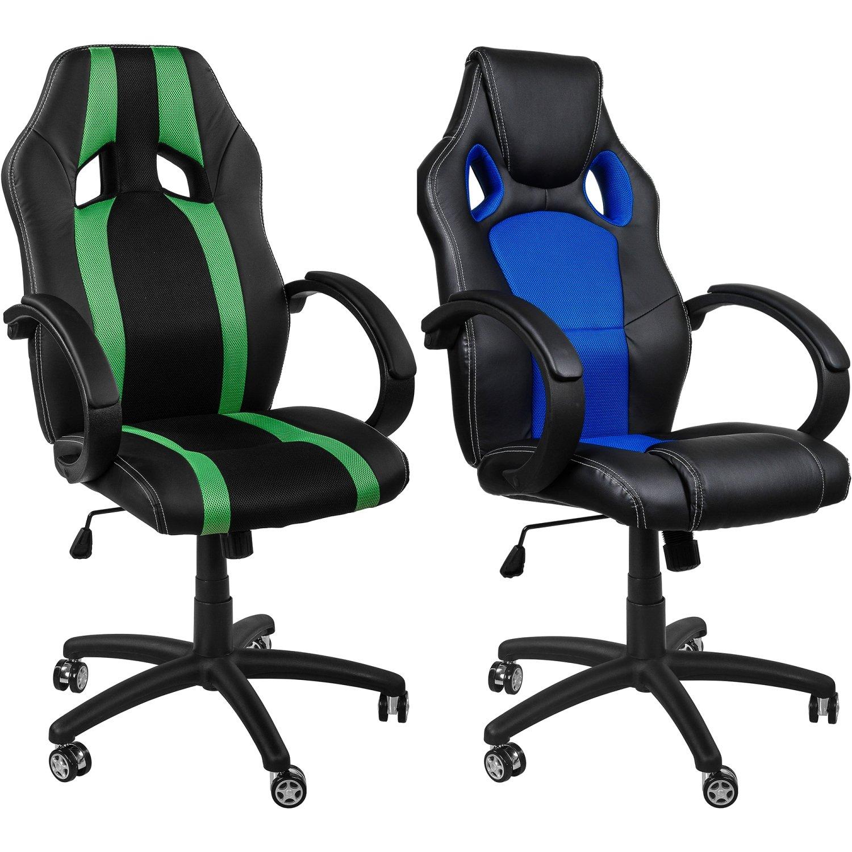 RACEMASTER Set de 5 ruedecillas para silla de oficina - Para suelos sin moqueta - Perno de 11 mm - Ruedas de 50 mm Ruedas para muebles de oficina: ...