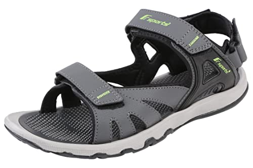 2a3f7fde85d48a Fsports Mens Grey and Green Colour Spider Series Synthetic Casual Sandal   Buy Online at Low Prices in India - Amazon.in