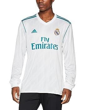 adidas H JSY LS Camiseta 1ª Equipación Real Madrid 2017-2018 LFP-Champions League, Hombre: Amazon.es: Deportes y aire libre