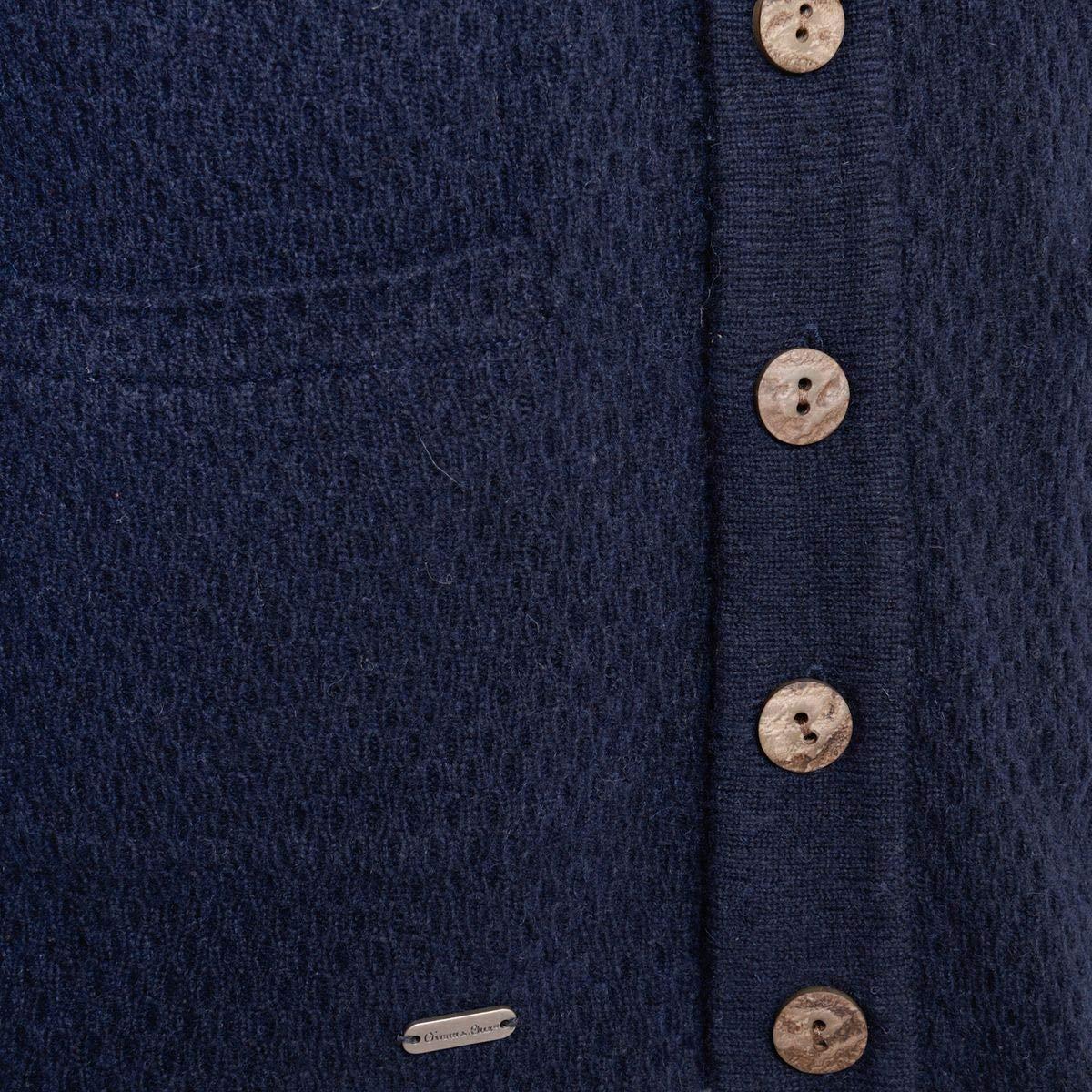 53033ce1c8d9 Gweih und Silk Herren Trachten-Mode Strickjacke Toni in Blau ...