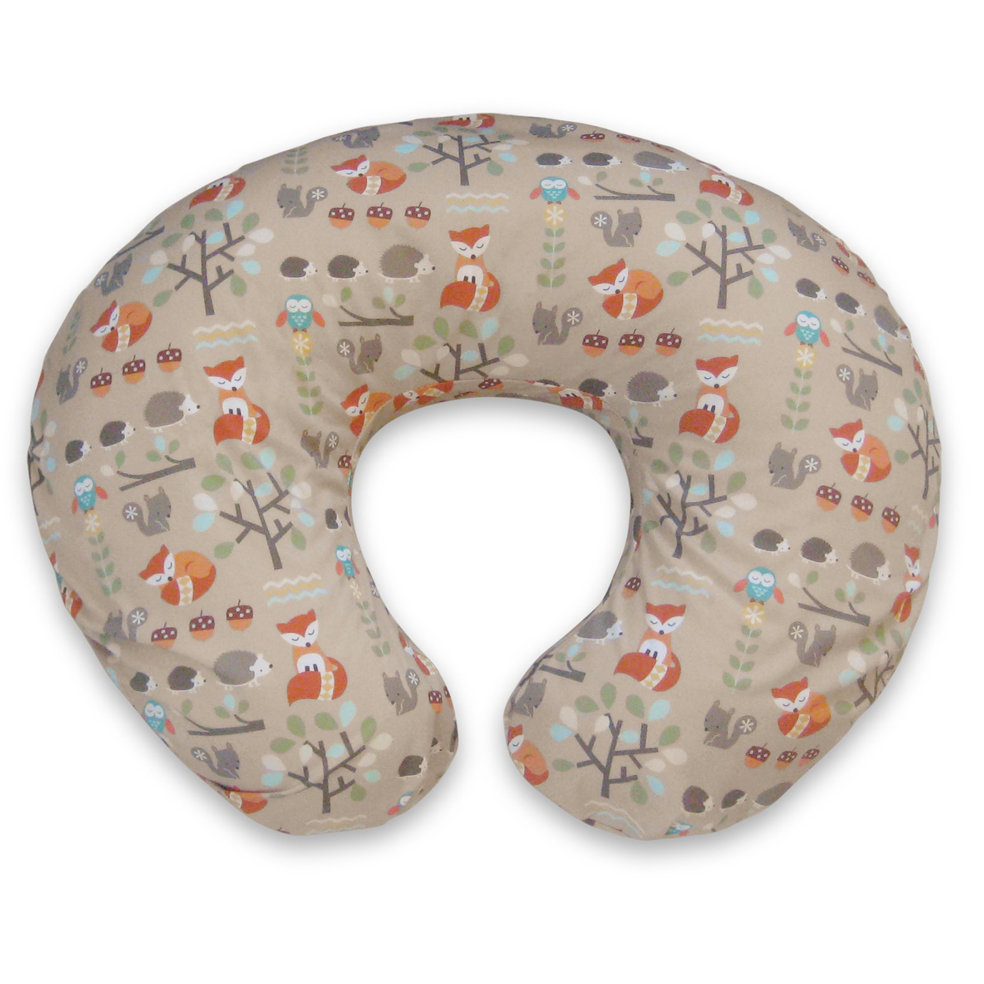 Boppy Water Resistant Protective Cover Breast Feeding Mom N Bab Sweater Orange Fox Pillow Slipcover Classic Forest Tan