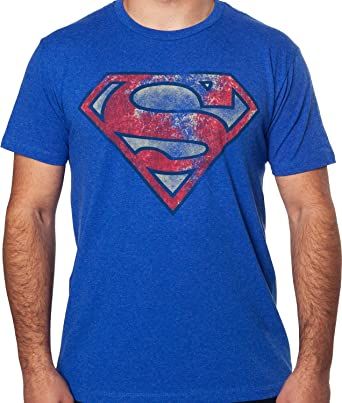Amazon Mens Dc Comics Distressed Superman Symbol T Shirt Clothing