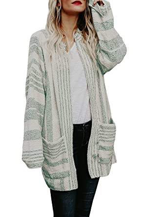 2dedbc1e566 Beautife Womens Oversized Sweaters Long Sleeve Open Front Cardigans Draped  Knit with Pockets
