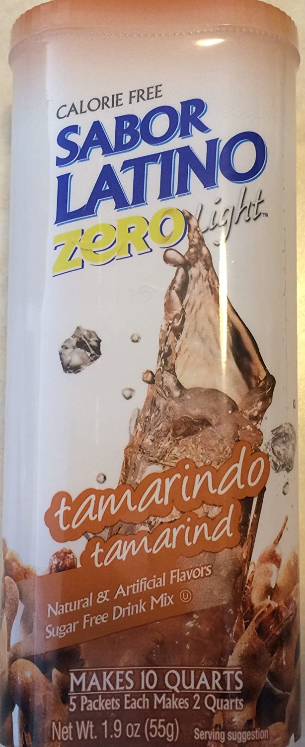 Amazon.com : Sabor Latino Zero Free Calories Light Tamarindo Tamarind Sugar Free Drink Mix : Grocery & Gourmet Food