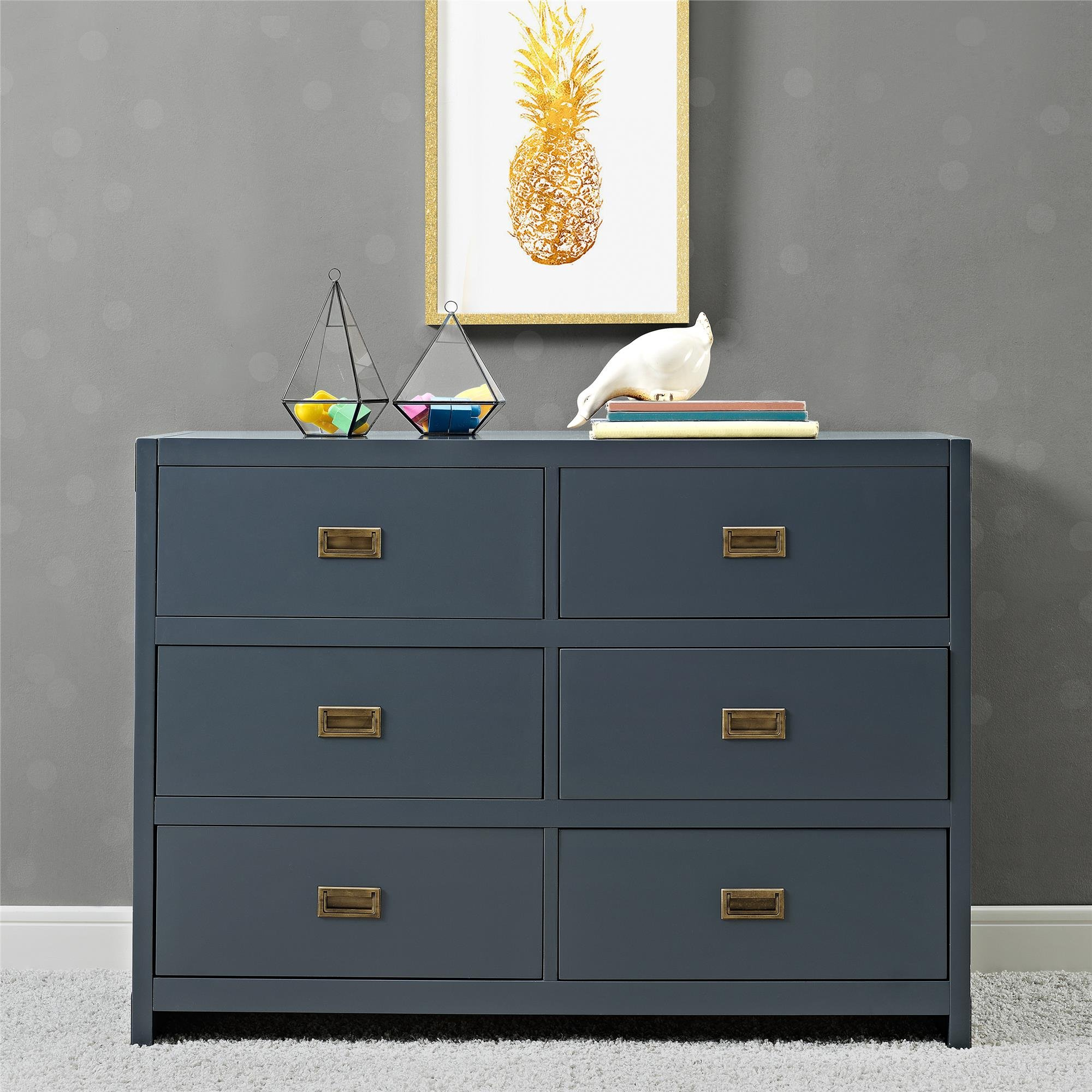 Baby Relax Miles, 6 Drawer Dresser, Graphite Blue by Baby Relax