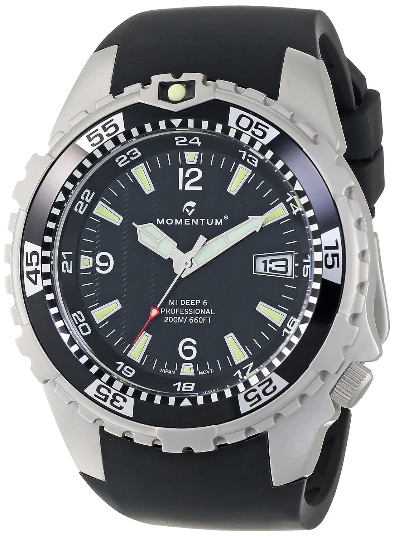 Momentum Herren-Armbanduhr XL M1 DEEP 6 Analog Quarz Kautschuk 1M-DV06B4B
