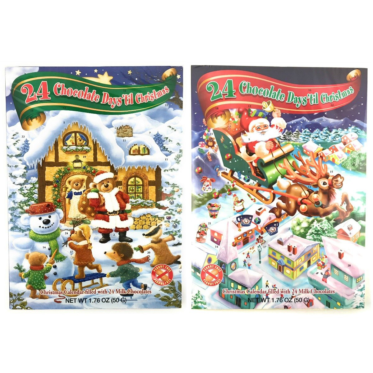 Advent Calendar - 24 Chocolate Days till Christmas Advent Calendar (Winter Wonderland Pack)