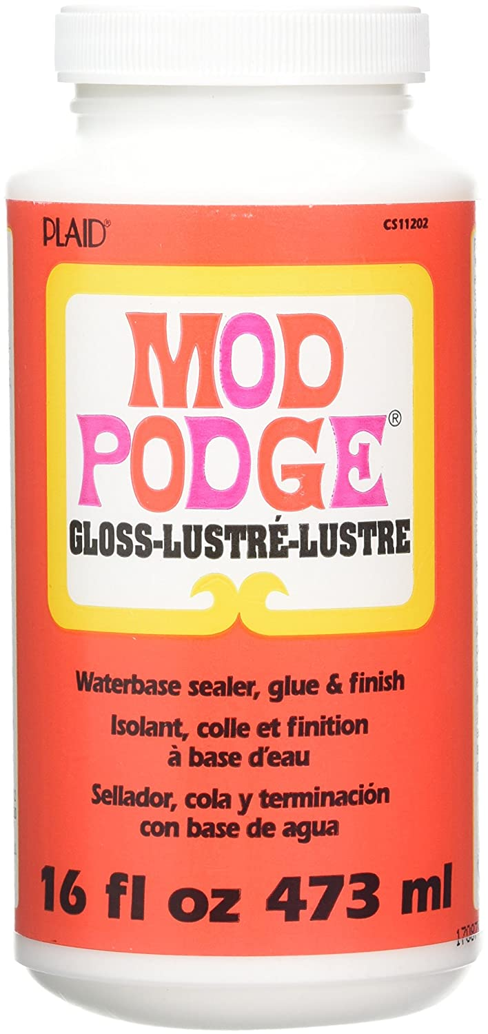 Mod Podge CS11202 Original 16-Ounce Glue, Gloss Finish Plaid Inc top coat craft adhesive