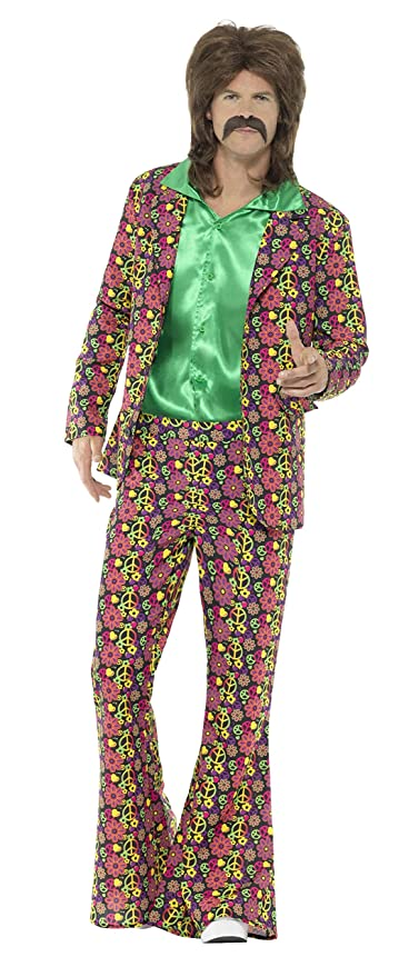 60s -70s  Men's Costumes : Hippie, Disco, Beatles Smiffys 60s Psychedelic CND Suit $52.00 AT vintagedancer.com