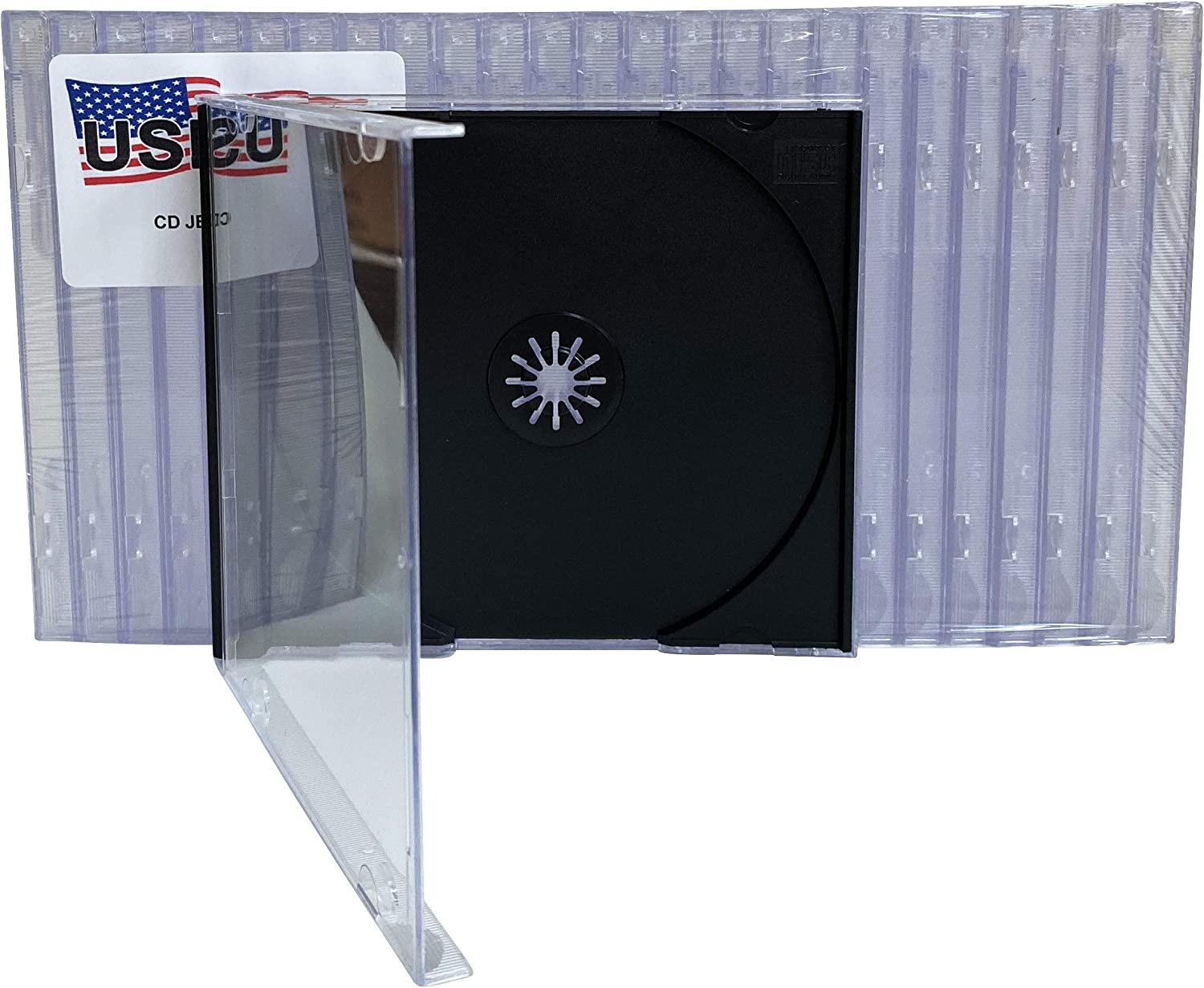 Double CD Maxi Jewel Case 10.4mm Spine Standard for 2 CDs with Black Tray New