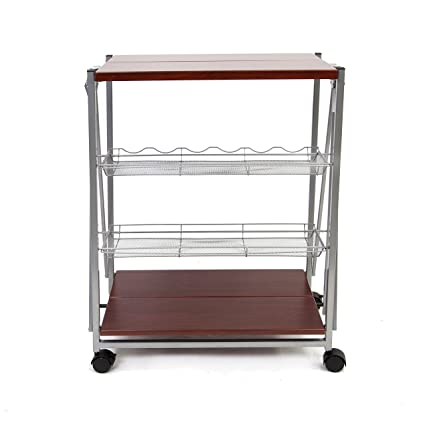 Amazon Origami Rbt 09 Dark Folding Kitchen Cart Dark Home