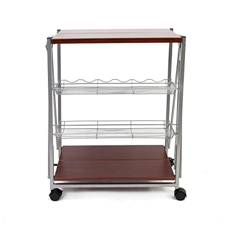 Superbe Origami RBT 09 DARK Folding Kitchen Cart, Dark