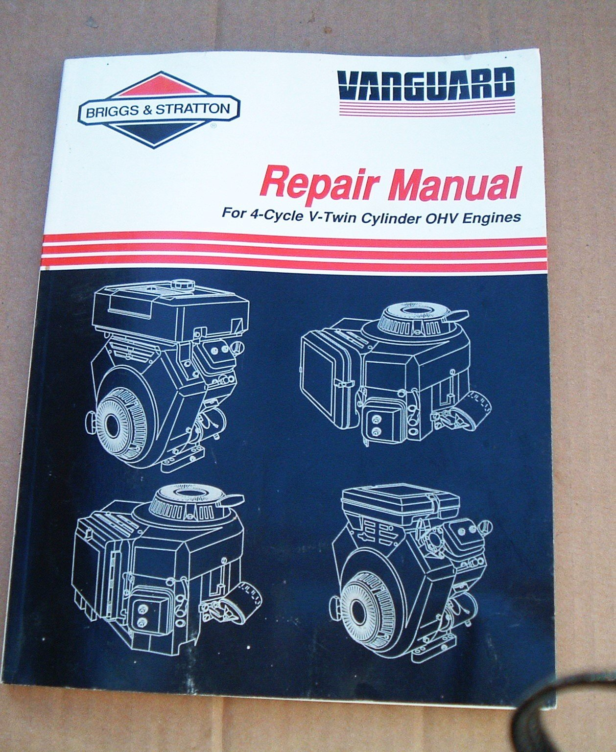 briggs stratton vanguard service and repair manual for 4 cycle v rh amazon  com Briggs and Stratton Parts Briggs and Stratton Engine Numbers