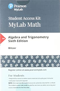 Algebra and trigonometry 6th edition robert f blitzer mylab math with pearson etext standalone access card for algebra and trigonometry fandeluxe Images