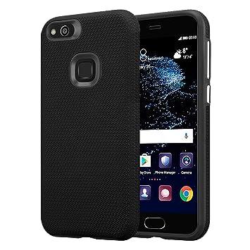 Cadorabo Funda para Huawei P10 Lite en Negro Dalia: Amazon.es ...