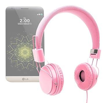 DURAGADGET Auriculares De Diadema Color Rosa para Smartphone Meizu ...