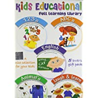 Kids Educational Set - 1 (Set of 5 DVDs- 123's/Abc's/English/Animals/Laugh & Learn)