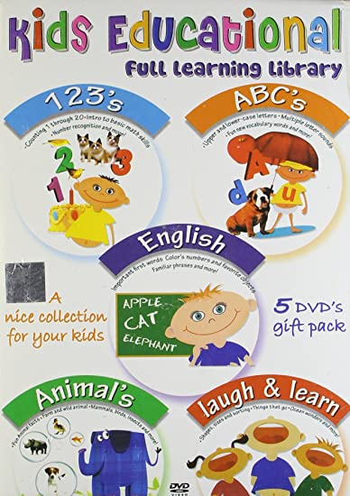 Amazon in: Buy Kids Educational Set - 1 (Set of 5 DVDs- 123's/Abc's