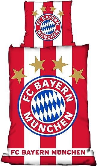 Fc Bayern München Bettwäsche Linon Fahne 155x220 Cm 80x80 Cm