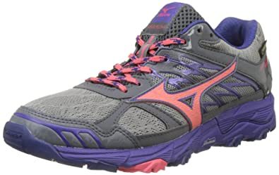 0428958806a6 Mizuno Women's Wave Mujin G-Tx Wos Running Shoes, Multicolor  (Griffin/Paradisepink