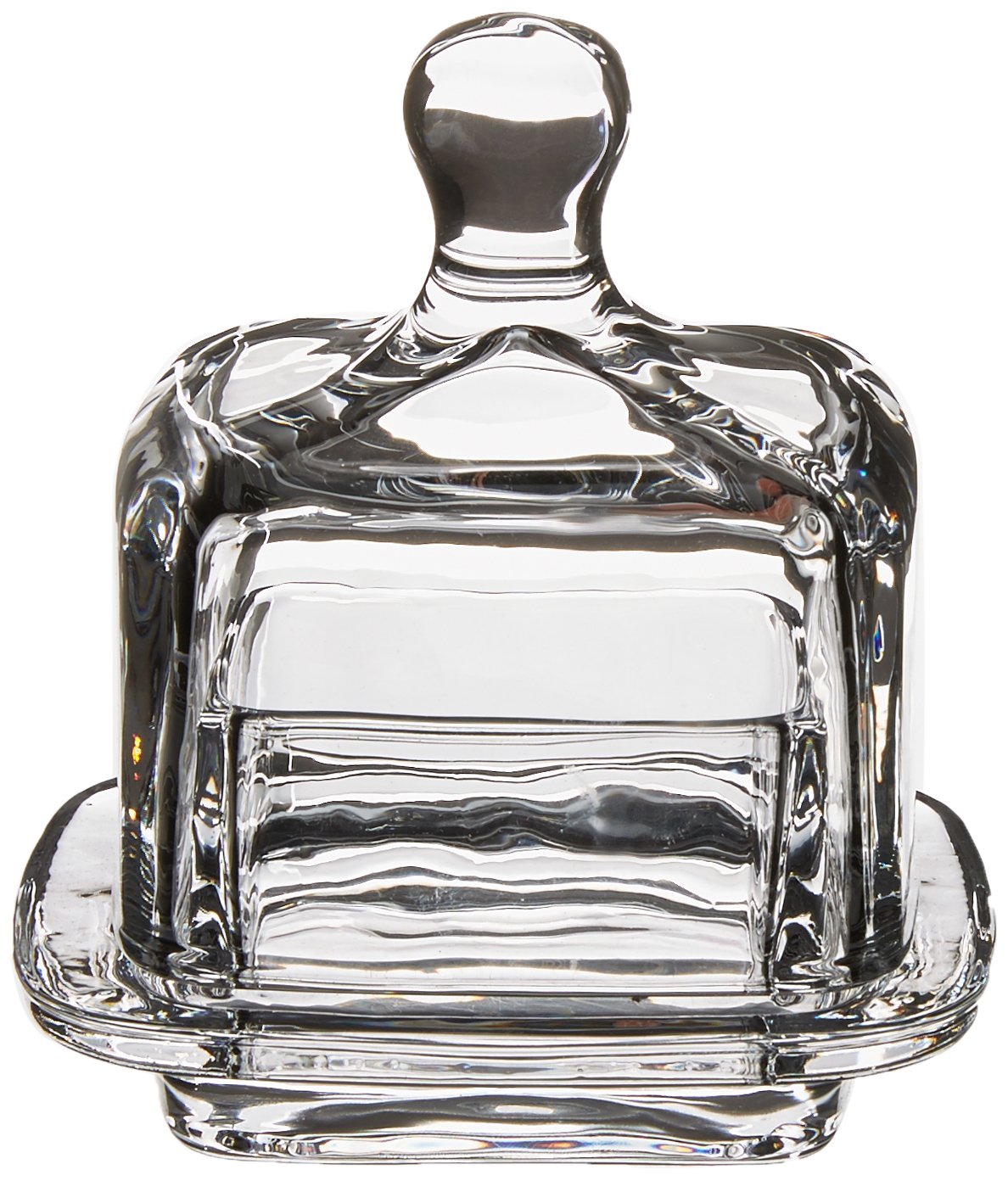 Abbott Collection Home 27-Churn Small Square Covered Dish, Clear HUYCHI