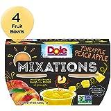 DOLE Mixations FRUIT BOWLS, Pineapple Peach Apple, 4 Ounce, (4 Cups)