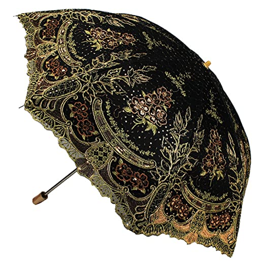 Make a Victorian Carriage Parasol Parasol Fashion Sequin Flowers Lace Embroidery $41.99 AT vintagedancer.com
