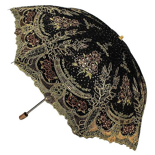 Vintage Style Parasols and Umbrellas Parasol Fashion Sequin Flowers Lace Embroidery $41.99 AT vintagedancer.com