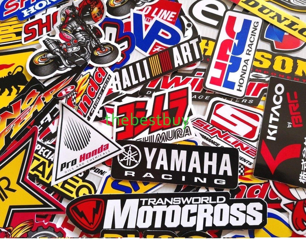 Amazon com thebestbuy 50 mixed random car motorcycle motocross racing stickers