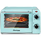 """Elite Gourmet Americana Fits 9"""" Pizza, Vintage Diner 50's Retro Countertop Toaster oven Bake, Broil, Toast, Temperature Contr"""