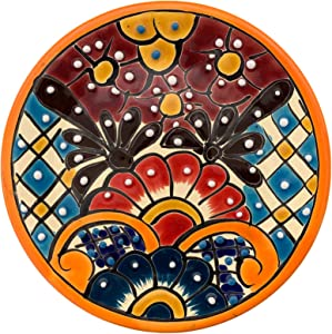 Colorful Handmade Decorative Ceramic Plate - Authentic Mexican Talavera Plates - 8