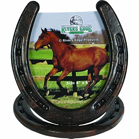 Amazon Rivers Edge Horseshoe Picture Frame Brown Sports