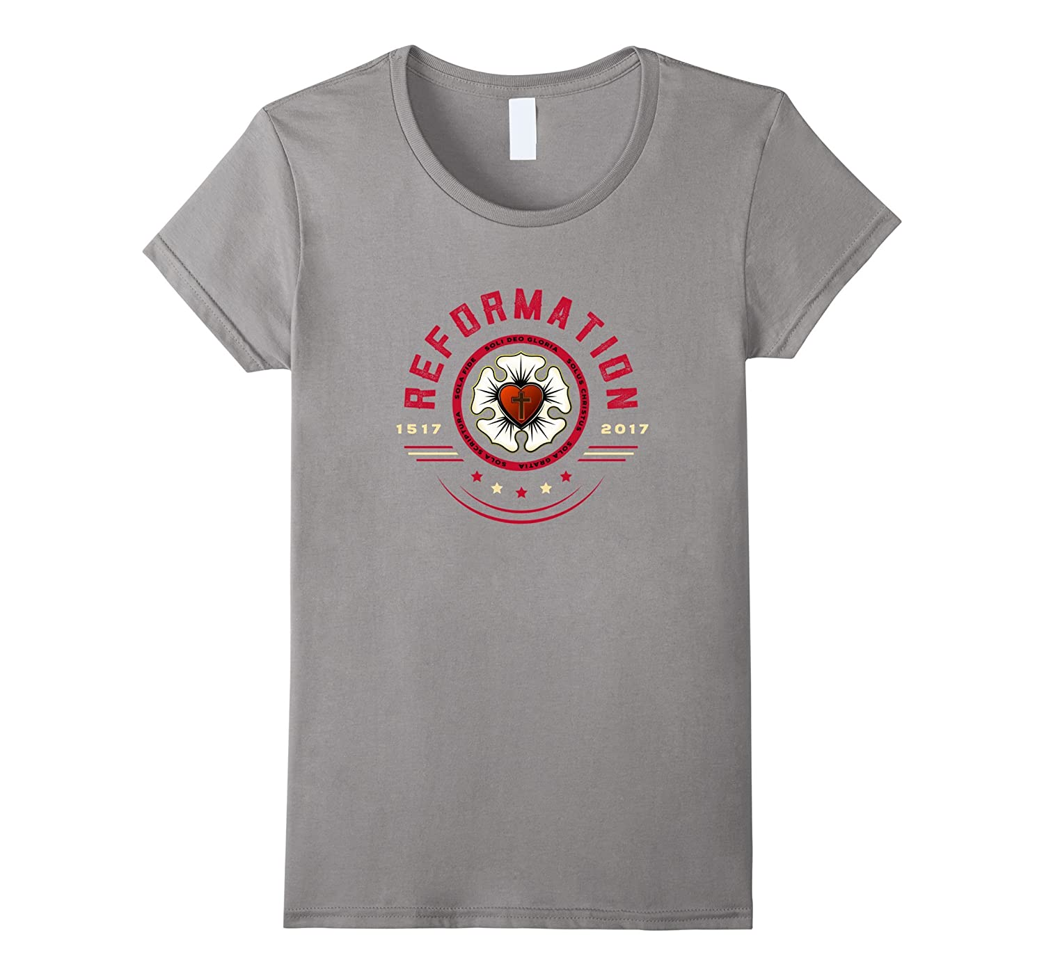 Reformation Martin Luther Rose Five Solas T-shirt