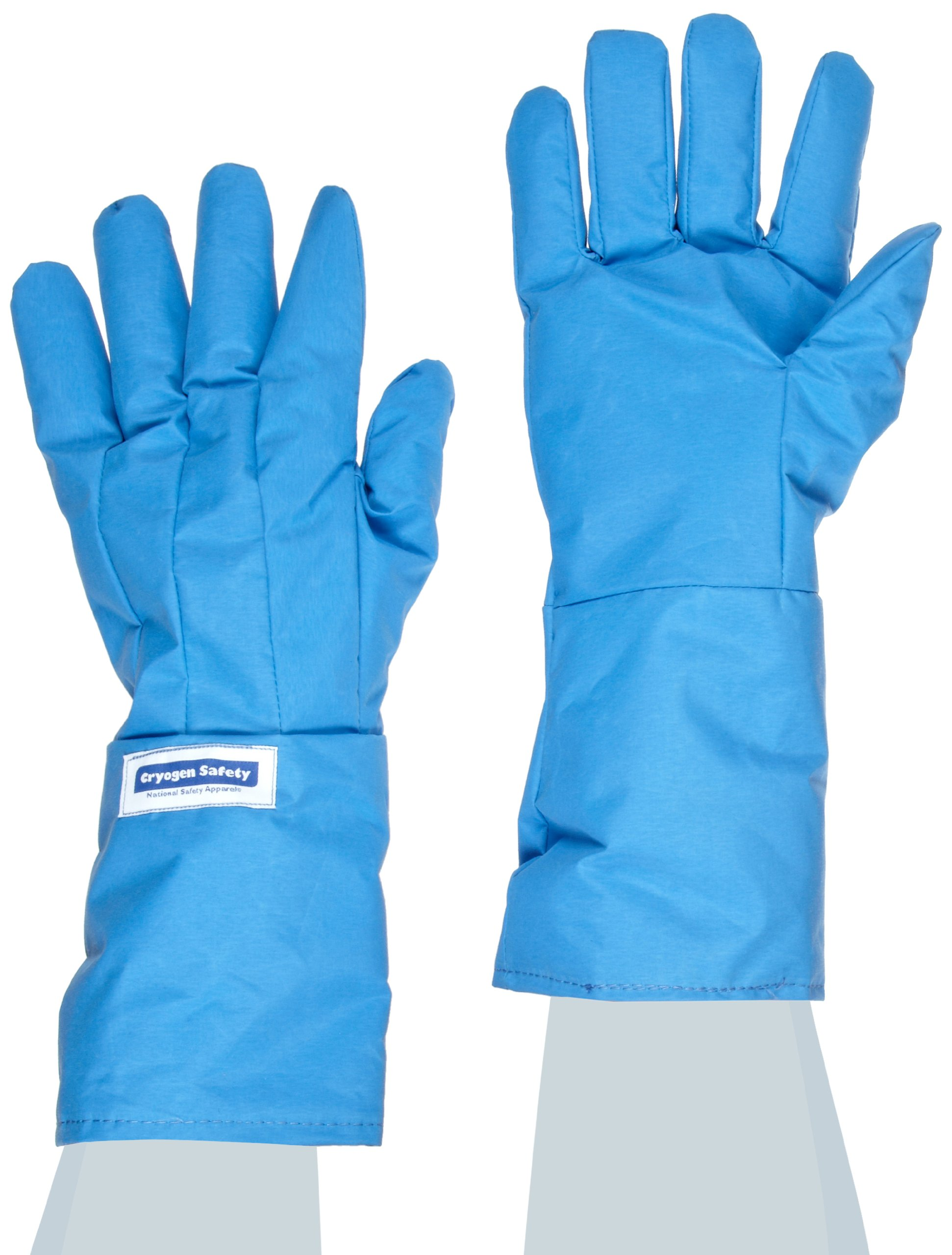 National Safety Apparel G99CRBEPXLMA Nylon Taslan and PTFE Mid-Arm Waterproof Safety Glove, Cryogenic, 14'' - 15'' Length, X-Large, Blue